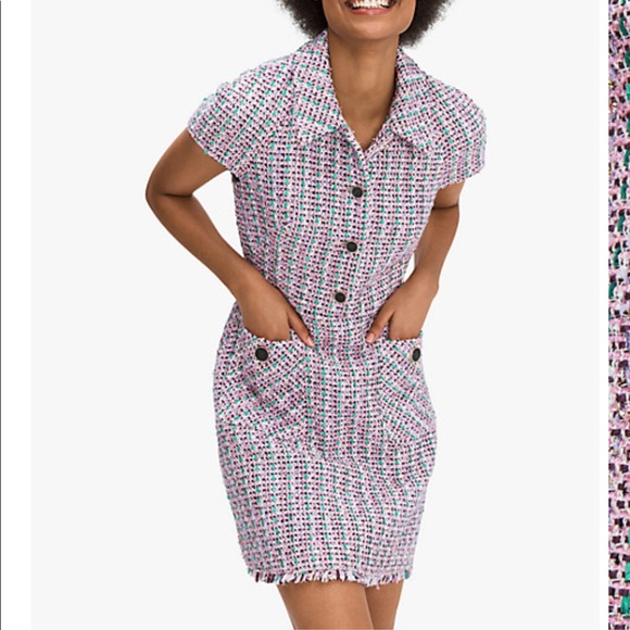 Kate Spade Enchanted Tweed Shirt Dress